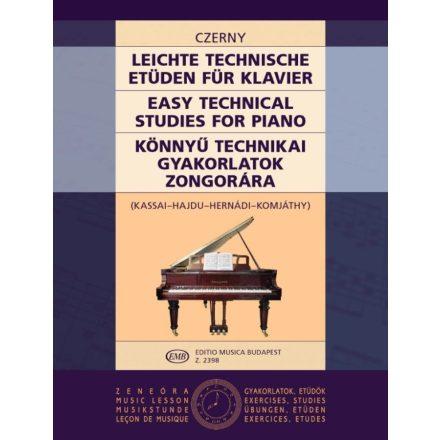 Könnyû technikai gyakorlatok zongorára